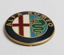☆ LOGO ALFA ROMEO 74mm  GOLD  CAPOT/COFFRE   / insigne /sigle ☆