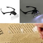 Headband Headset LED Head Light Magnifier Magnifying Glass Loupe 5 x Lens NEW