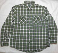 Woolrich Men's Shirt Long Sleeve Flannel Button Down  Plaid Pattern Size Large