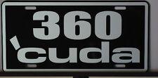 METAL LICENSE PLATE 360 CUDA PLYMOUTH E BODY MOPAR HURST PISTOL GRIP PRO STOCK