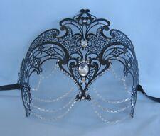 Black Filigree Metal Cleopatra/Egyptian/Venetian Masquerade Party Mask