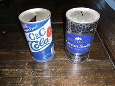 Vintage Soda Cans (Empty and Opened) C&C Cola; Gristede's Cream
