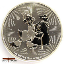 2018 1oz Scrooge McDuck Silver New Zealand 1 ounce Silver Bullion Coin unc: