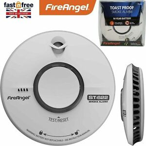 Fire Angel ST-622 10 Year Thermally Enhanced Optical Smoke Detector Thermoptek