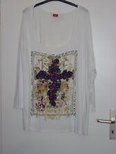 Schickes Buffalo T- Shirt mit schöner Applikation beige Gr. 56/58