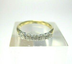 VINTAGE 18CT GOLD DIAMOND RING 0.50 CARATS