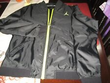 YOUTH BOYS/GIRLS NIKE AIR JORDAN JUMPMAN Jacket L LARGE 12/13 BLACK/NEON  NEW