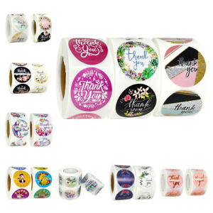"""1.5"""" Thank You Stickers Wedding Handmade Business Gifts Reward Seal Labels Toys"""