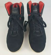 PUMA x FERRARI Size 10 Mens Black Red High Top Trainers Sneakers Shoes Casual