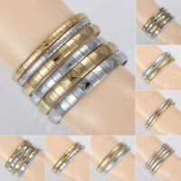 Fashion Titanium Steel Bracelets Women's Silver/Gold Bangle Charm Jewelry Chain