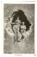 Antique WW1 military postcard Im Granatloch German Soldiers portrait