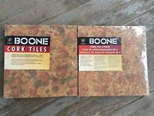 "Boone Cork Tiles 12"" x 12"" Per Pack Each Pack 4 Square Feet Bnip"