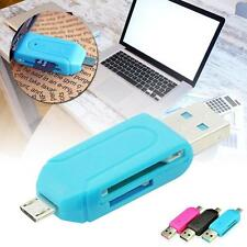 USB 2.0 +Micro USB OTG Adapter SD T-Flash Memory Card Reader for Smart Phone UP