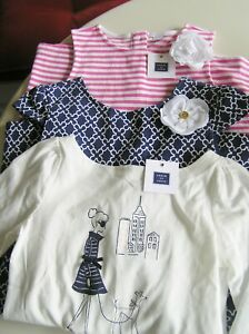 NWT JANIE AND JACK 2 DRESSES AND LONG SLEEVE TOP SIZE 10