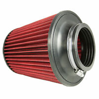 """Universal 76mm 3"""" Neck Inverted Dual Cone Induction Intake High Flow Air Filter"""