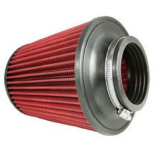 """Universal 76mm 3"""" col inversé double cône induction intake haut débit filtre à air"""