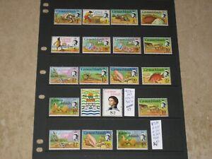 Cayman Islands 1974-5 QEII MNH Set Scott 331->345 +Extras CV$67+