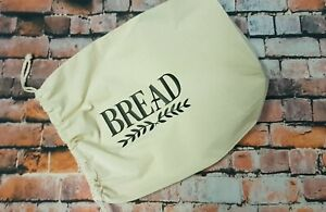 RE-USABLE 100% natural COTTON unbleached calico BREAD BAG recycle 35x28cm reuse