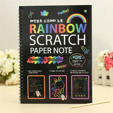 Colorful Magic Scratch Educational Art Painting Paper With Drawing Stick Kids