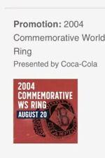 Boston Red Sox 2004 World Series Ring Replica SGA Fenway 08/20/19 2018 2007 2013