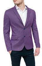 Jacket Blazer Man Diamond Sartorial Violet Elegant Summer 100% Made IN Italy