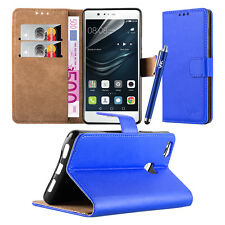 Wallet Pouch Leather Book Flip Case Cover for Various Mobile PHONES Blue Microsoft LUMIA 550