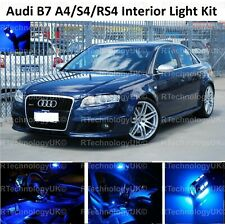 BLUE PREMIUM Audi B7 A4/S4/RS4 04-08 INTERIOR FULL UPGRADE LED LIGHT BULBS KIT