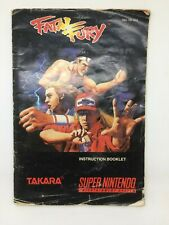 Fatal Fury Manual Super Nintendo SNES USA