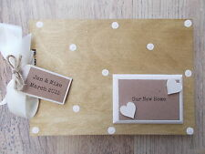 PERSONALISED NEW HOME/HOME RENOVATION WOODEN SCRAPBOOK/PHOTO BOOK /MEMORIES