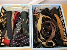 50+ Ties and Belts, Men's, Job Lot, Women's - Unsorted - 5.5kgs
