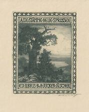 Ex libris ART DECO Exlibris by FLURY PAUL (1877-1968) Switzerland