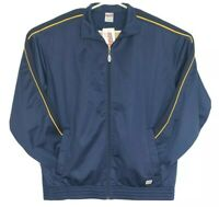 Soffe Mens Size Large Track Jacket Full Zip Activewear Sports Casual Navy NWT