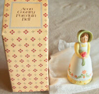 """Vintage 1985 Avon """"COUNTRY GIRL"""" Hand-Painted Design Porcelain Bell - Brand NEW!"""