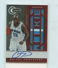 QUINCY PONDEXTER 2010-11 Panini Certified Rookie Jersey Auto Autograph #D /99