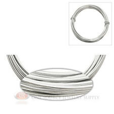 Silver Aluminum Craft Wire Wrapping 12 Gauge Sculpture 39 Ft. Floral Jewelry