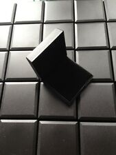 WHOLESALE JOBLOT 50 JEWELLERY GIFT BOXES BLACK HINGED EARRING, PENDANT, BROOCH