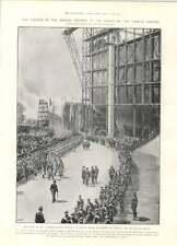 1905 Launch Kaiserin Auguste Victoria Railway Under The Seine First Caisson