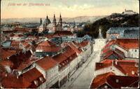 FULDA Hessen um 1910 Strassen Partie v.d. Pfarrkirche aus alte color Postkarte