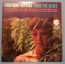 LIGHTNIN' LIGHTNING HOPKINS SINGS THE BLUES CM 2051 VINYL LP MONO VG++/VG+!!