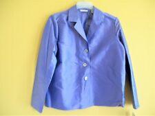 NWT Valerie Stevens M 100% SILK Top JACKET Purple Shell Buttons GORGEOUS New