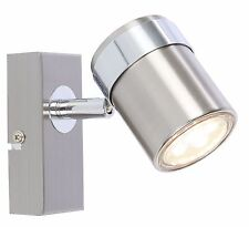 UKEW® Chrome metal single LED Ceiling or Wall Spotlight Spot Lights Fittings
