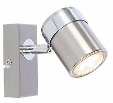 New  Chrome  single LED Ceiling or Wall Spotlight Spot Lights Fittings  (14444)