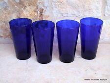 Libbey Cobalt Blue Set of 4 Water Iced Tea Glasses Tumblers