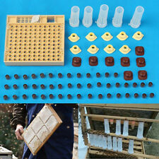 Queen Rearing Cupkit Box System Bee Catcher Cage Beekeeping+120 Cell Cups Tool
