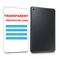 New Silicone TPU Transparent Slim Case Cover For Samsung Galaxy Tab A 8.0 10.1