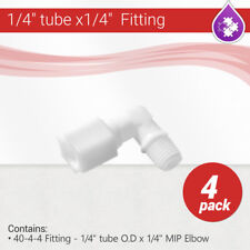 """4 Pcs 1/4"""" tube x1/4"""" MIP Elbow Reverse Osmosis Copression RO Fitting 40-4-4"""