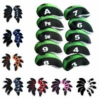 New Neoprene 10pcs/set Golf Club Iron Head Covers Set Golf Irons Popular New US