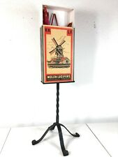 French Mid Century XXL Matchbox Stand Holder Fireplace Tools Molen Er Arts Craft