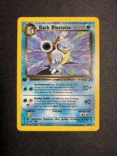 Pokemon Cards 1ST EDITION DARK BLASTOISE 20/82 Rare Team Rocket WotC NM-LP!