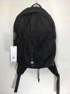 C.p Company black Nylon Sateen Lens Goggle Backpack  Bag Rucksack Cp Travel